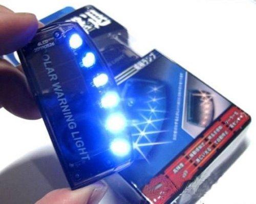 Aketek HotAuto Solar Charger Car Burglar Alarm Warning LED light Car Sensor Security (Security Light For Car compare prices)