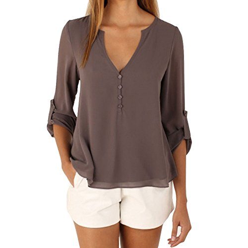 women-blouse-dress-chiffon-casual-loose-long-sleeves-vest-summer-tops-t-shirts-tank-top-coffe