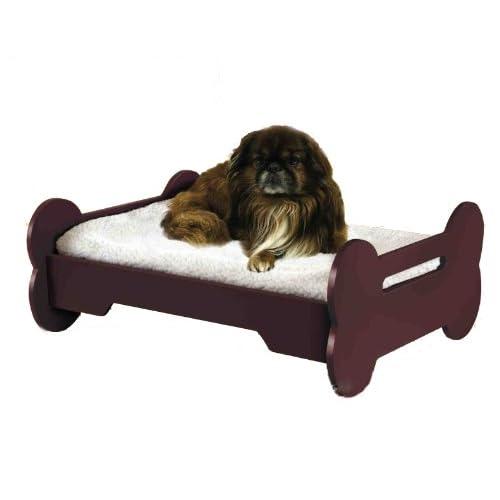 "Amazon.com : WOODEN ""DOG BONE SHAPED"" PET BED : Pet Supplies"