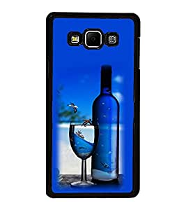 Vizagbeats Wine Bottle Glass Back Case Cover For Samsung Galaxy A8