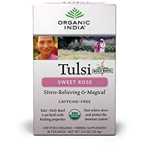 Organic India - Tulsi Tea Sweet Rose - 18 Tea Bags