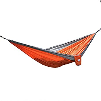 OuterEQ Portable Parachute Nylon Fabric Travel Camping Hammock