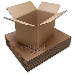 """10x Double Wall Brown Mailing Cardboard Boxes - 18"""" x 12"""" x 12"""""""