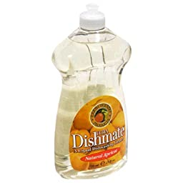 Earth Friendly Products Ultra Dishmate Natural Dishwashing Cleaner, Natural Apricot 25 fl oz (739 ml ( Multi-Pack)