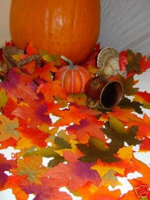 1000 Wedding Silk Fall Autumn Leaves Petals