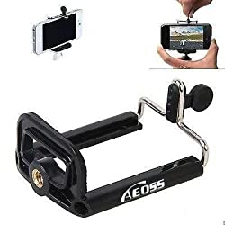 Aeoss ® Camera Stand Clip Bracket Holder Tripod Monopod Mount Adapter for Mobile Phone