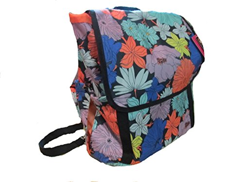 Flower Print Rucksack With Laptop Sleeve front-136694
