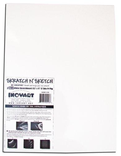 "Inovart White Scratchboard 11"" x 14"""