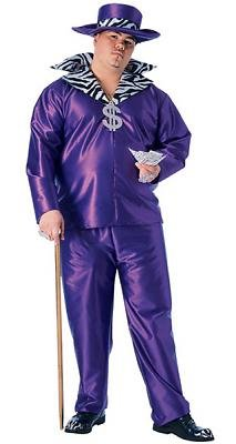 Purple Big Daddy Men's Costume Adult Halloween