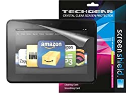 **PACK OF 3** AMAZON KINDLE FIRE HD 7 inch ( 16GB 32GB WIFI ) CLEAR Screen Protector with cleaning cloth - TECHGEAR