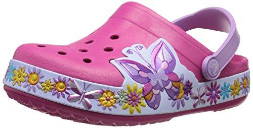 Crocs Crocband Butterfly Clog K Sandali a Punta Chiusa, Bambine e Ragazze, colore Rosa (Candy Pink), taglia 32/33
