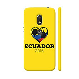Colorpur Ecuador Soccer Shirt 2016 Designer Mobile Phone Case Back Cover For Motorola Moto G4 Play with hole for logo | Artist: Torben
