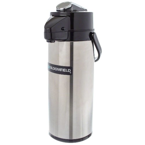 Bloomfield 7765-ALM Airpot, 74-Ounce Capacity, Lever Action, Brew-Through Stem, Stainless Steel Liner, 20