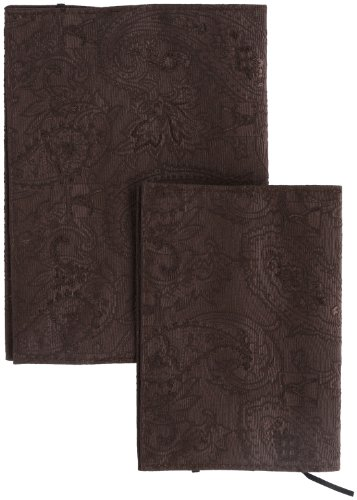 [ブックカバー] book jacket 2点セット ペーズリー柄ブックカバー 9697-03 コゲチャ (コゲチャ)