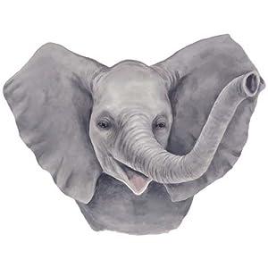 Amazon.com - Elephant Head - Tatouage Rub-On Wall Transfer