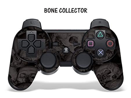 Designer Skin for Playstation 3 Remote Controller - Bone Collector Black