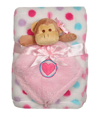 BabyGear Baby-girls Newborn 2 Piece Blanket Set With Plush Security Blanket