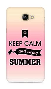 Amez Keey Calm and Enjoy Summer Back Cover For Samsung Galaxy A9