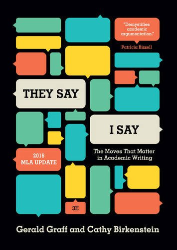 they say i say moves academic writing 2nd edition They say / i say demystifies academic writing by identifying its key rhetorical moves, the most important of which is to summarize what others have said (they say) to set up one's own argument (i say.