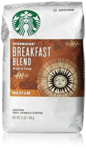 Starbucks Breakfast Blend Ground Coffee (Medium), 12 Oz