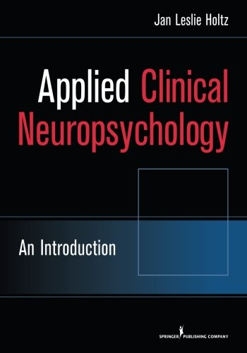 Applied Clinical Neuropsychology: An Introduction front-806001