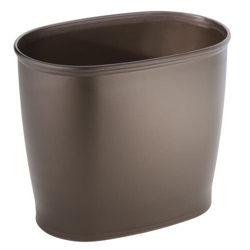 InterDesign Kent Bathware, Oval Wastebasket Trash Can for Bathroom, Kitchen, Office - Bronze (Decorative Trash Can compare prices)