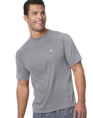 Champion Double Dry® Short-Sleeve Mens T Shirt, Large-Oxford Gray