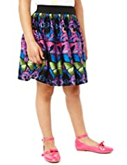 Autograph Pure Cotton Butterfly Print Skirt