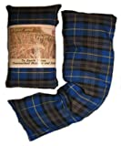 Wheat and Lavender Microwavable Heat Cushion/Warmer/Pack/Bag, for Neck and Body - Blue Plaid Tartan