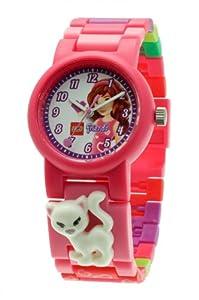 LEGO 9005220 - Reloj analógico de cuarzo para niña con correa de plástico, color rosa
