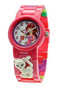 Lego Friends Olivia Girl's Quartz Watch with White Dial Analogue Display and Pink Plastic or PU Strap 9005220