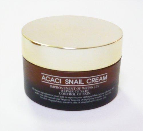 CHAMOS ACACI 韓国スネイルコスメ Snail Repair Skin Care 皮膚再生化粧品 カタツムリエキス配合 クリーム ACASI SNAIL CREAM 50ml