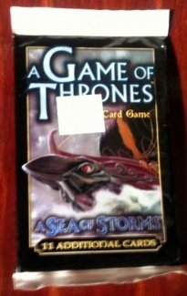 A Game of Thrones A Sea of Storms 11 Additional Cards Booster Pack