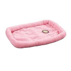 Slumber Pet Sherpa Dog Crate Bed, Medium/Large, Baby Pink