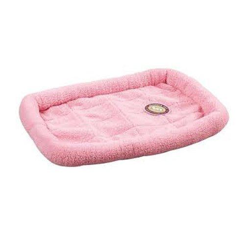 Slumber Pet Sherpa Dog Crate Bed, Medium/Large, Baby Pink front-230360