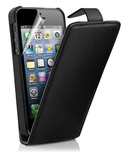 G4GADGET® Apple iPhone 4 4S Black Flip PU Leather Case Cover For Apple iPhone 4 4S