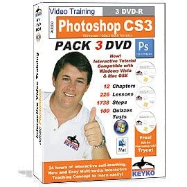 Adobe Photoshop CS3 Extended Tutorial Training in 3 DVDs By Keyko
