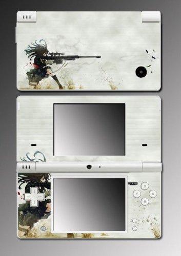 Anime Girl Sniper Rifle Game Vinyl Decal Skin Protector Cover #1 for Nintendo DSi
