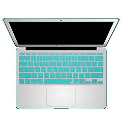 Litop® 11.6-inch Robin's Egg Blue Color Thin Silicone Keyboard Cover Keyboard Skin for All MacBook Air 11
