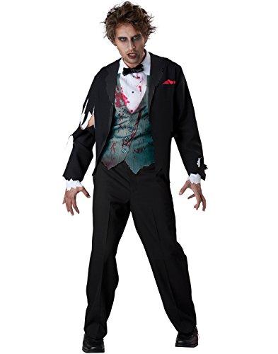 [InCharacter Costumes Men's Gruesome Groom Costume, Black, X-Large] (Dead Groom Costume)