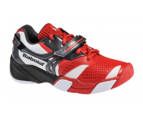 BABOLAT Propulse 3 Junior Tennis Shoes, Red, UK3