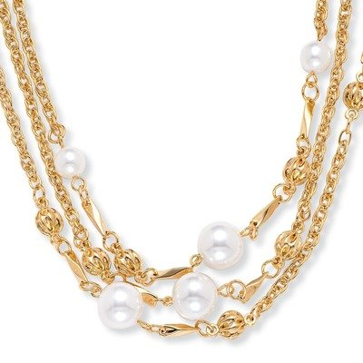 Goldtone Simulated Pearl Necklace