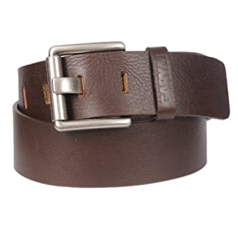 Raw: Mens Rustic Premium Full Grain Leather Casual Belt By Gary Majdell Sport Dark Brown Size 30