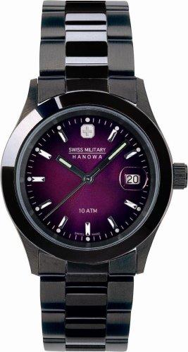 SWISS MILITARY (スイスミリタリー) 腕時計 PVD BLACK ML/189 バイオレット メンズ 35mm