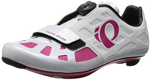 Pearl Izumi Women's W Elite RD IV Cycling Shoe, White/Pink Punch, 40 EU/8.37 B US (Pink Cycling Shoes compare prices)