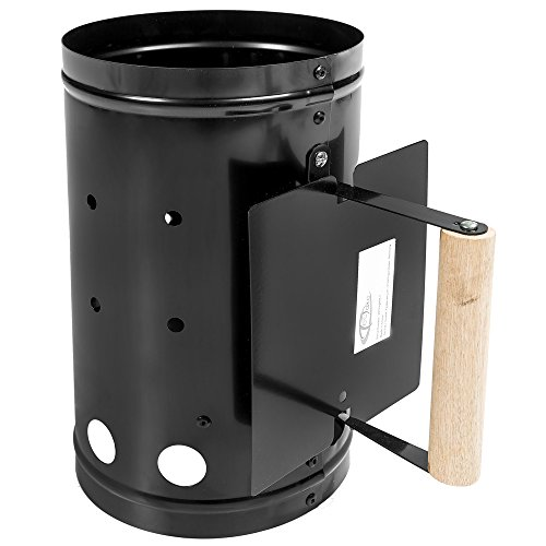 tectake-bbq-barbecue-chimney-starter-charcoal-grill-rapid-quick-coal-fire-lighter-black