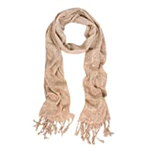 Unique Multi Color Trendy Glitter Scarf - Blush