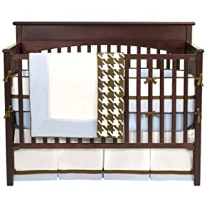 Metro Blue/Choc 4 pc Crib Set