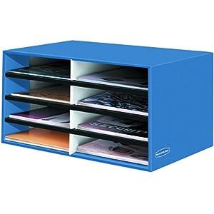 Bankers Box Decorative 8 Compartment Literature Sorter, Cornflower Blue, Letter (6110301)