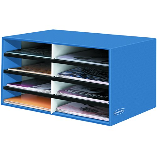 Bankers Box Decorative 8 Compartment Literature Sorter, Cornflower Blue, Letter (6110301)